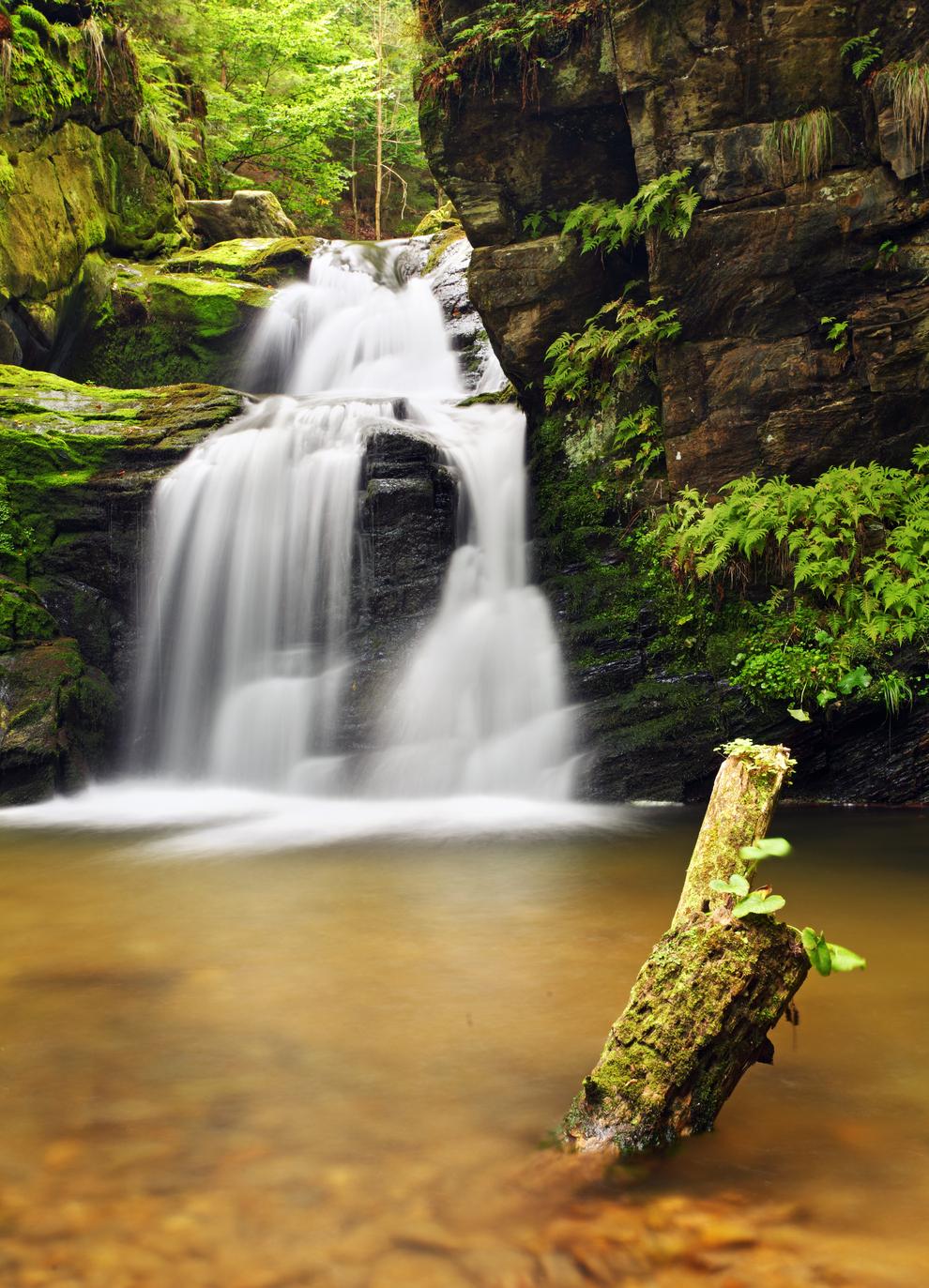 Vodopád kdesi na Moravě (foto Tomáš Šereda)